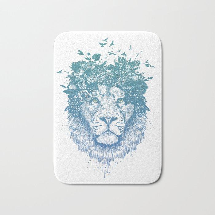 Floral lion Bath Mat