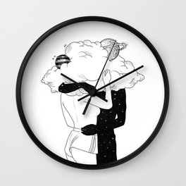 Clouds of love. Wall Clock