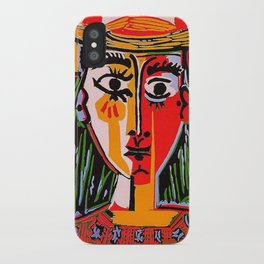 Head of a woman in a Hat Picasso iPhone Case