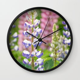 Lovely Lupines Wall Clock