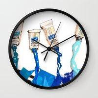 blues Wall Clocks featuring Blues by ST STUDIO