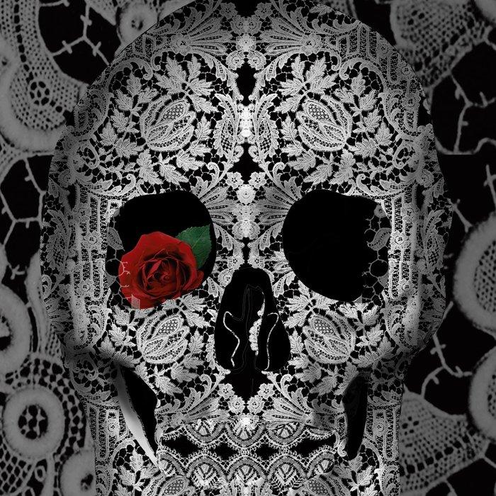 lace floral skull Leggings