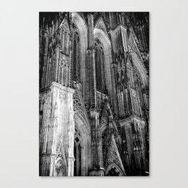 Cologne Cathedral (Kölner Dom), Germany - Black & White Canvas Print