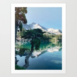 quiet morning at scout lake Art Print