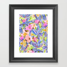 Flaunting Floral Periwinkle Framed Art Print