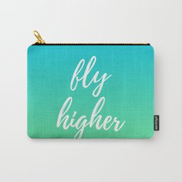 Fly Higher - Blue Green Ombre Carry-All Pouch