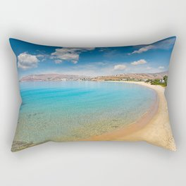 St. Peter has the best beach in Andros, Greece Rectangular Pillow