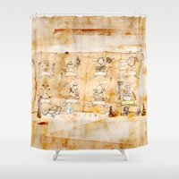 hunting Shower Curtains featuring HEAD HUNTING by JoeyDrawing