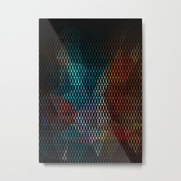Abstract background of triangles polygon print. Bright dark design colors Metal Print