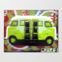 van Canvas Prints featuring Van by Gabriel Prusmack and Sophia Buddenhagen