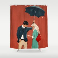 broadway Shower Curtains featuring Broadway Bus Stop by Stephan Parylak