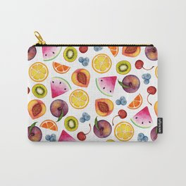 Watercolor Fruit Painting Carry-All Pouch