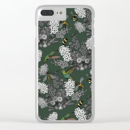 Hummingbirds and Bees (don't let them fade away) Clear iPhone Case