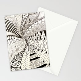Black and white spiral Stationery Cards
