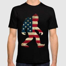 Bigfoot american flag T-shirt
