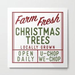 Farm Fresh Christmas Trees, Vintage Christmas Tree Farm Metal Print