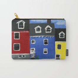 Newfoundland Houses Canada acrylics on canvas Carry-All Pouch