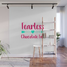 Fearless Chocolate Lab Fun Dog Wall Mural