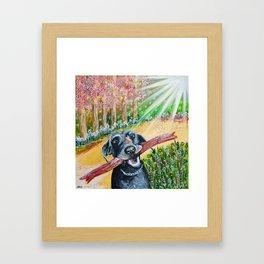 Monty the Dog Framed Art Print