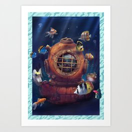 Diving Suit Art Print