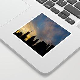 Skyline Silhouette Moody Wispy Clouds Sticker