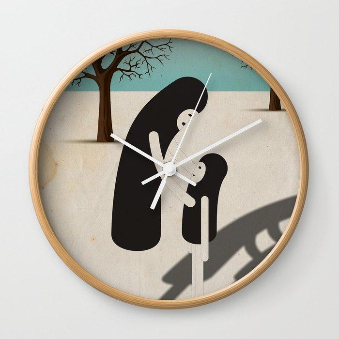 padre/figlio Wall Clock
