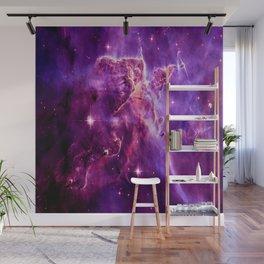 Mystic Mountain nebula. Purple Fuchsia Pink Wall Mural