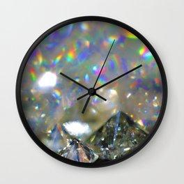 Rainbow Diamonds Wall Clock