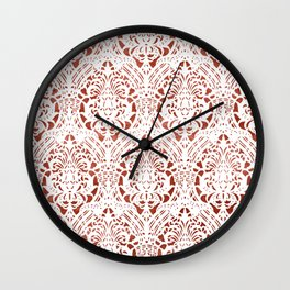 Sanguine Vintage Pattern Wall Clock
