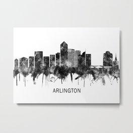 Arlington Texas Skyline BW Metal Print