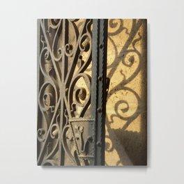 Scroll Gate Metal Print