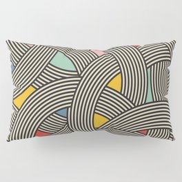 Modern Scandinavian Multi Colour Color Curve Graphic Pillow Sham