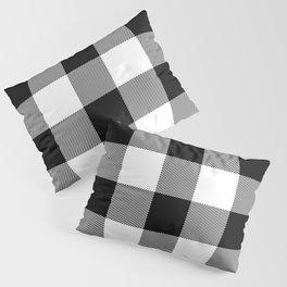 Big Black and White Buffalo Plaid Pillow Sham