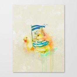 Duck War Canvas Print