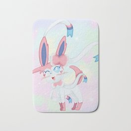 Sylveon in Pastel Space Bath Mat