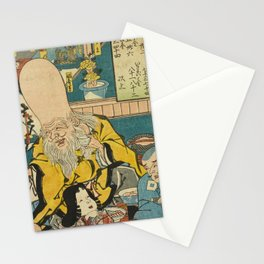 A long head Japanese person Ukiyo-e Stationery Cards