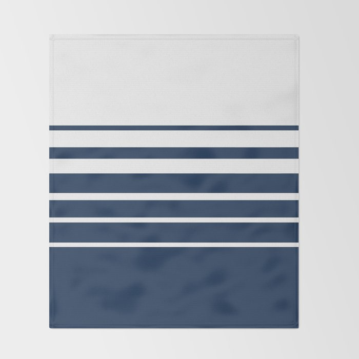 White blue striped pattern . Throw Blanket