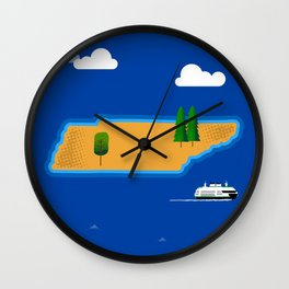 Tennessee Island Wall Clock