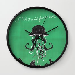What Could Plastic Hurt? Jelly by Sarah Pinc Wall Clock