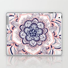 Woven Dream - Pink, Navy & White Mandala Laptop & iPad Skin