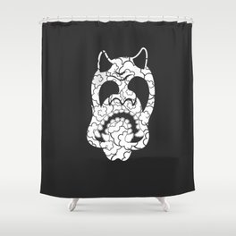 Hannya Smoke Mask No.2 Shower Curtain