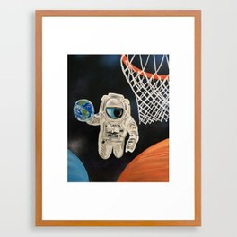 Space Games Framed Art Print