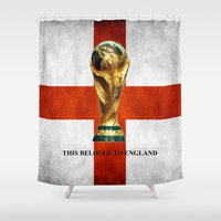 world cup Shower Curtains featuring World Cup by Rothko