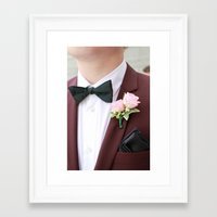 suit Framed Art Prints featuring Suit by Naya Joyce