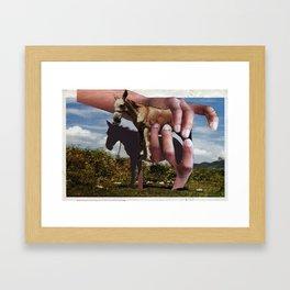 Los Burros Framed Art Print