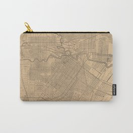 Vintage Houston Texas Railroad Map (1890) Carry-All Pouch