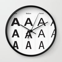helvetica Wall Clocks featuring Helvetica Neue by ZTH Design