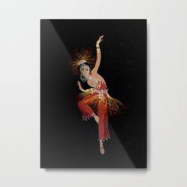 """Firebird Dancer"" Art Deco Image Metal Print"
