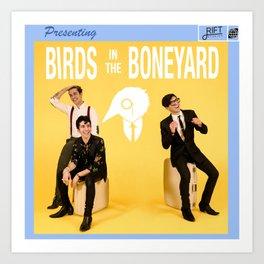 Birds in the Boneyard: Album Cover Art Print