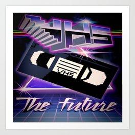 VHS FUTURE Art Print